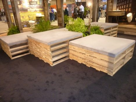 Best of Show, Booth Design at Greenbuild: Kohler And Living Machine : TreeHugger - More palate seating