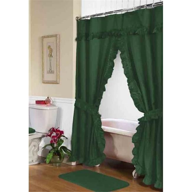 Carnation Home Fashions Fscd L 27 34 X 54 In Lauren Double Swag