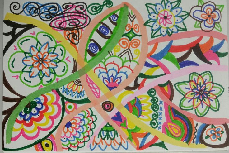 Created Friday 12 May 2017. Felt pens on paper