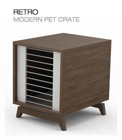 A dog crate is perfect for housetraining your pet and protecting your furniture from getting chewed up while you're away.
