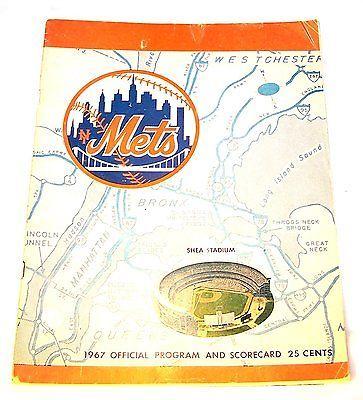 #tickets 67 New York Mets Baseball Program v LA Dodgers VG Rams Giants Yankees Ticket Ofr please retweet