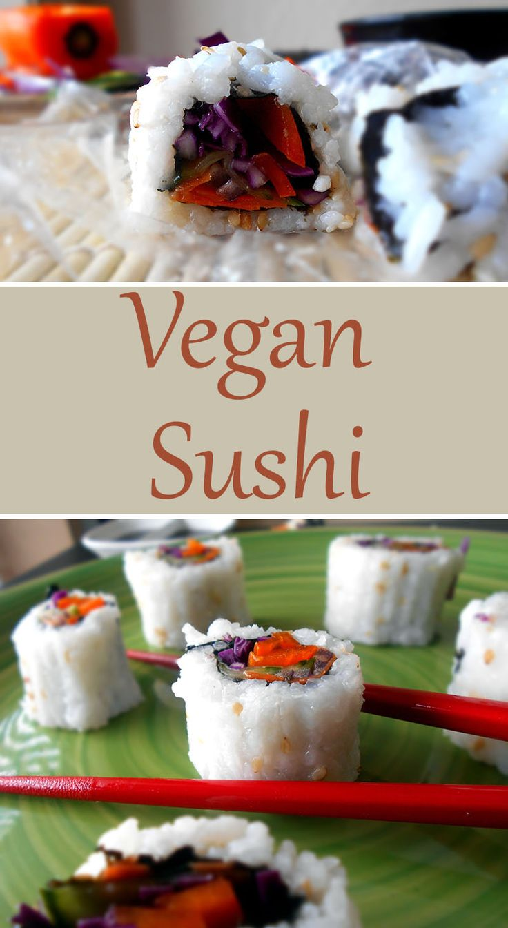 This is my first attempt at making vegan sushi. It came out ok. vegetarian sushi, lo carb