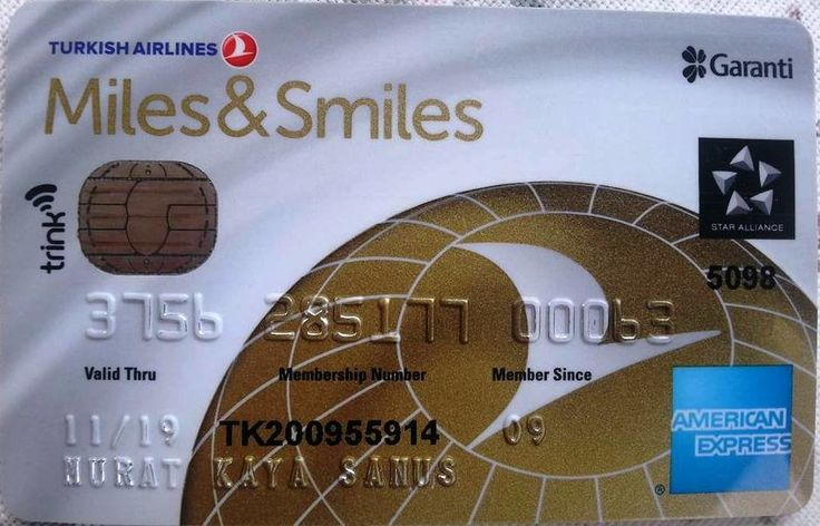 Turkish Airlines Miles&Smiles Gold Card (Garanti Bankası, Turkey) Col:TR-AE-0015