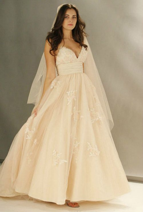 Wtoo by Watters also has some nice options for blush gowns.