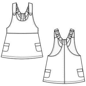 Modelos de ropa patrones para todas las tendencias Jumper 6890 BEBES Vestidos