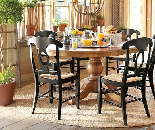 Sumner Pedestal Table U0026 Napoleon® Chair Set From Pottery Barn