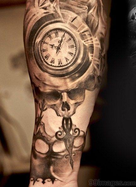 3bb7a949b331e 🌟 🌺 Best Clock Tattoos (HD Images) 🌟   Clock Tattoos Latest HD ...