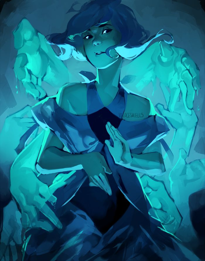 "velocesmells: "" Somewhere beyond the sea She's there, watching for me Dressed up Lapis in another dress! """
