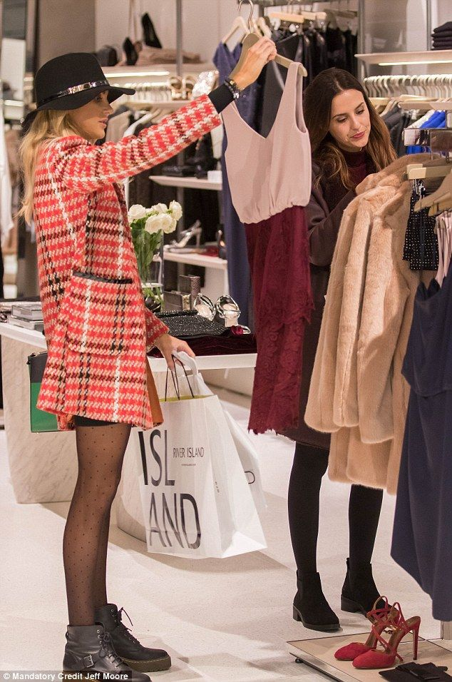 One for the show? The girls seemed to spend time dress shopping, perhaps for clothes for an upcoming episode of Made In Chelsea