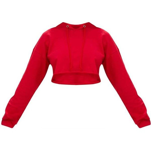 Petite Red PLT Cropped Hoodie ($28) ❤ liked on Polyvore featuring tops, hoodies, hooded pullover, red cropped hoodie, petite hoodies, petite hooded sweatshirt and sweatshirt hoodies