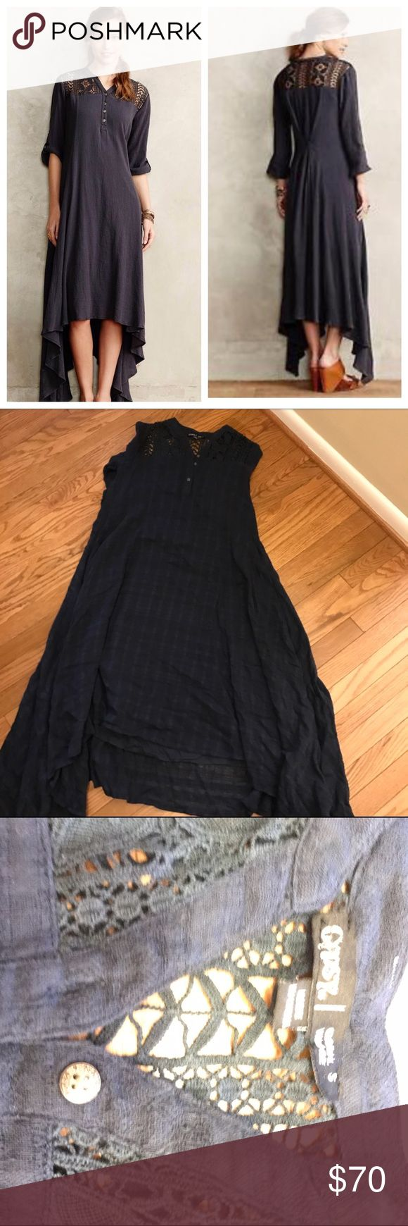 Anthropologie Tindaya Maxi, sz S By Gypsy05. In EUC, worn once. Navy blue color way for sale Anthropologie Dresses