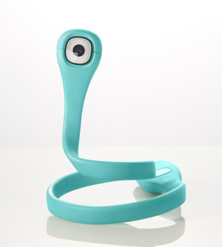 The Flex Cam PIC is a slender, bendable camera that looks like a cross between a Pixar character and a Livestrong bracelet.
