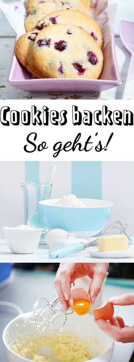 Aus einem einfach Teig Cookies selber machen - so geht's!