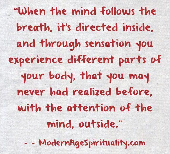 #Mind #Breath #Sensation #Experience #Attention