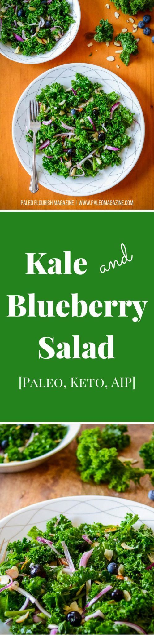 Kale and Blueberry Salad Recipe [Paleo, Keto, AIP] #paleo #keto #aip #recipes - https://paleomagazine.com/kale-blueberry-salad-recipe-paleo-keto-aip