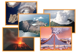 Free Volcano Photo Cards Set For Early Learning