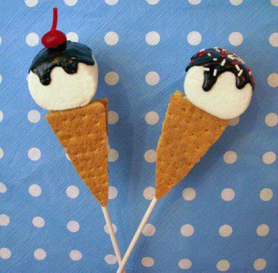 preschool ice cream crafts   Ice Cream S'mores Pops