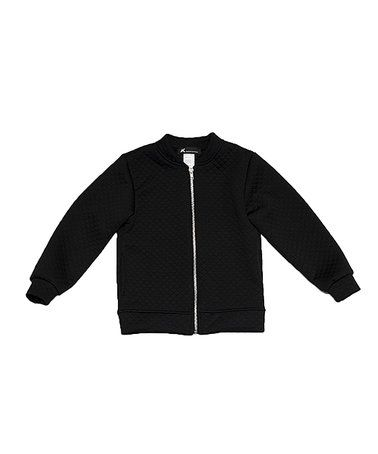 This Black Quilted Bomber Jacket - Toddler & Kids is perfect! #zulilyfinds