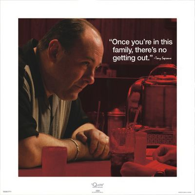 Tony Soprano. Sad to learn of the passing of James Gandolfini today.  Loved watching this talented actor.