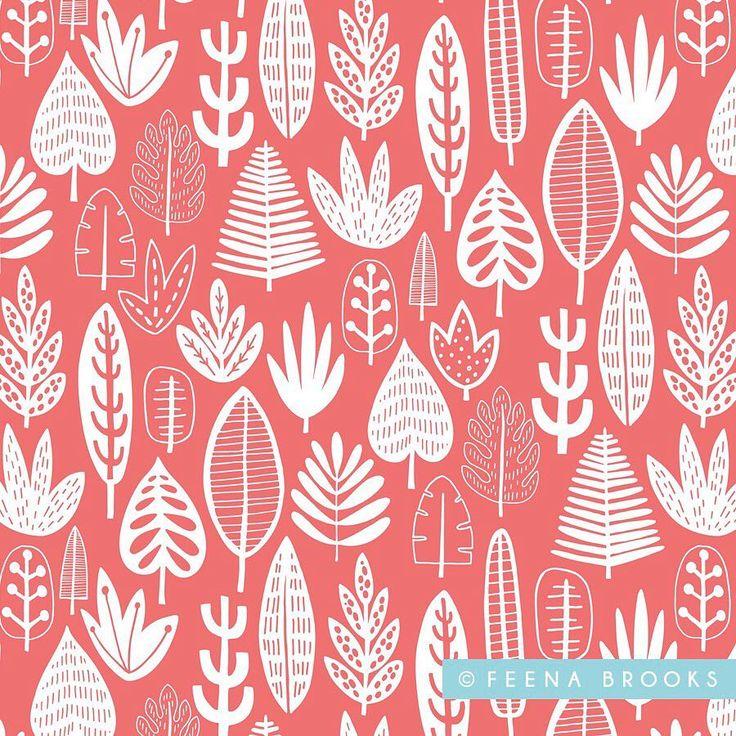 LEAVES - @feenabrooks on Instagram - some leaves to go with my jungle pattern... #jungle #junglepattern #kidspattern #surfacepattern #surfacepatterndesign #printandpattern #pattern #artlicensing #licensing #fabric #textiledesign #repeatpattern #floralpattern #greetingscard #abspd #mats #makeartthatsells #feenabrooks #floraldesign #illustration #drawing #wacom #cintiq
