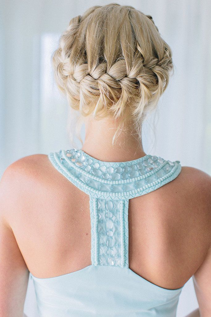 Pretty braid updo