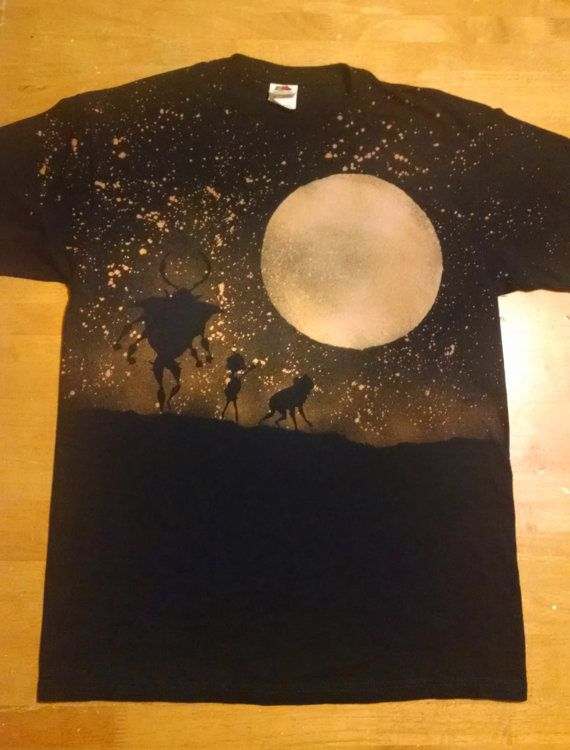 Here we have a custom-made bleached shirt inspired by the beautiful new film Kubo and the Two Strings! Shirt details: Material: 100% Cotton Color: Black, Navy Blue, Royal Blue, Dark Red, Dark Green Available in Men & Womens Small, Medium, Large, Extra Large, 2XL sizes. Also available in Youth Small (6-7), Medium (8) and Large (10-12)! All designs are made to order, we hand cut the stencils and use bleach to create them! Since it was done with bleach, there is no need to worry about the...