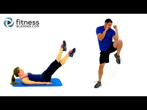 No Burpee HIIT Cardio and Abs Workout -- Fat Burning Bodyweight Cardio without Burpees