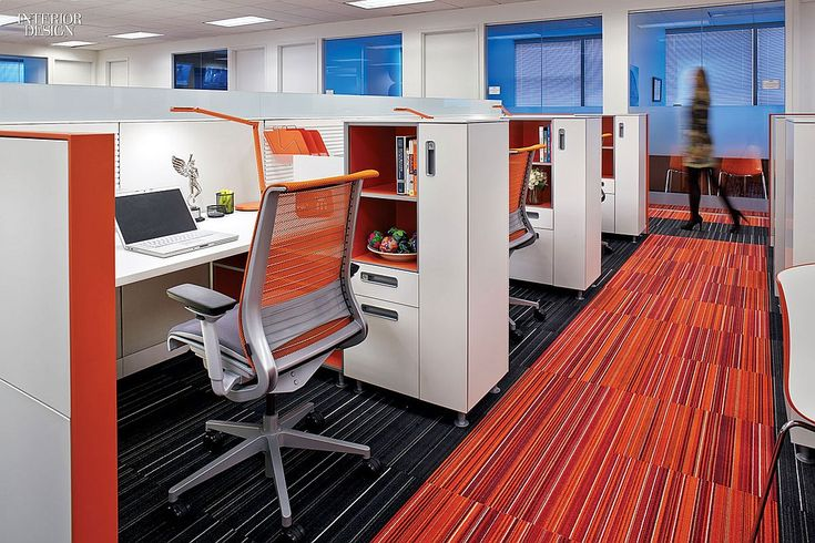 Big Ideas: Budget Minded | Task chairs in an office area are by Glen Oliver Low. Firm: TVS Design. #design #interiordesign #interiordesignmagazine #architecture #office #furniture