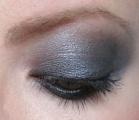 delineador esfumado+sombra cinza