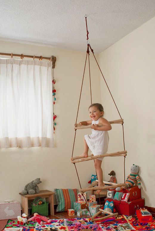DIY Tutorial Wooden Monkey Bars climber play by Wiwiurka on Etsy