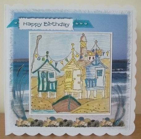 Michael Powell Beach Huts Card