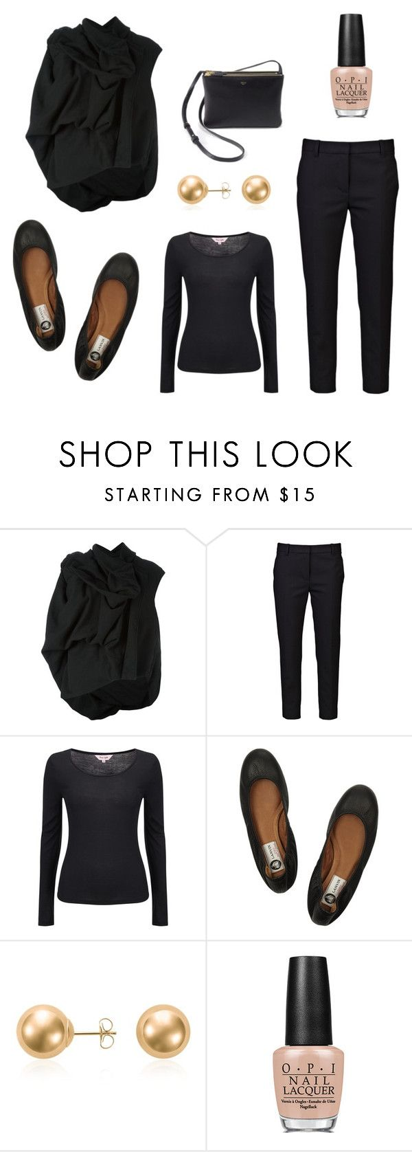Untitled #34 by leenap on Polyvore featuring Phase Eight, DRKSHDW, 3.1 Phillip Lim, Lanvin, Blue Nile, OPI and CÉLINE