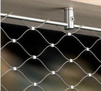 Flexible cable de acero inoxidable tejido con nudos Mesh / cuerda de alambre de malla