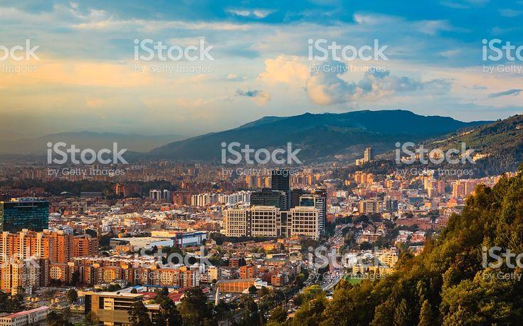 Bogota, Colombia - Barrio de Usaquen viewed from La Calera royalty-free stock photo