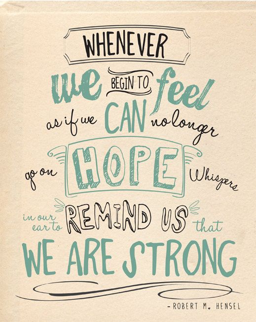 let your inner strength push you forward