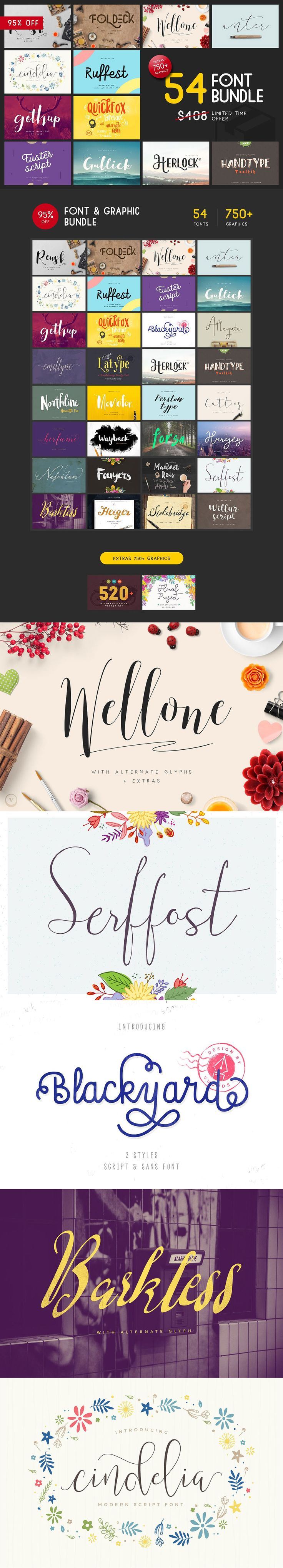 INTRODUCING #FONT & GRAPHIC BUNDLE  Hello! All beautiful fo carefully with ntion to details. These fonts are perfect for #logos, #blog, posters, #apparel, #wedding invitations, beer labels and many others.