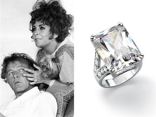 Attractive Carat Asscher Cut Diamond Ring From Richard Burton