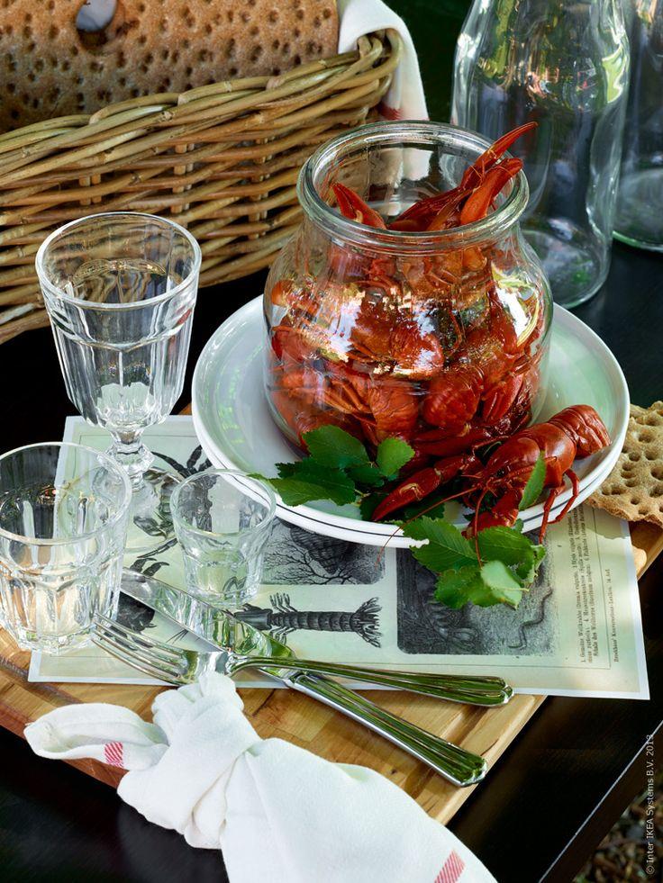 Ikea inspiration for Crayfish season