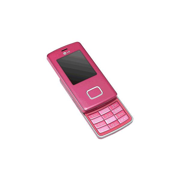 LG Chocolate KG800 - pink (Unlocked) Cell Phone reviews - CNET Reviews ❤ liked on Polyvore featuring electronics, home and phones