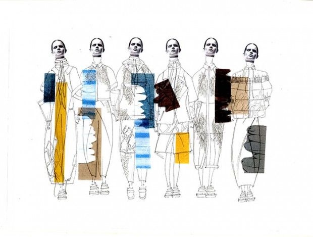 Fashion illustration by Sophie Bateson