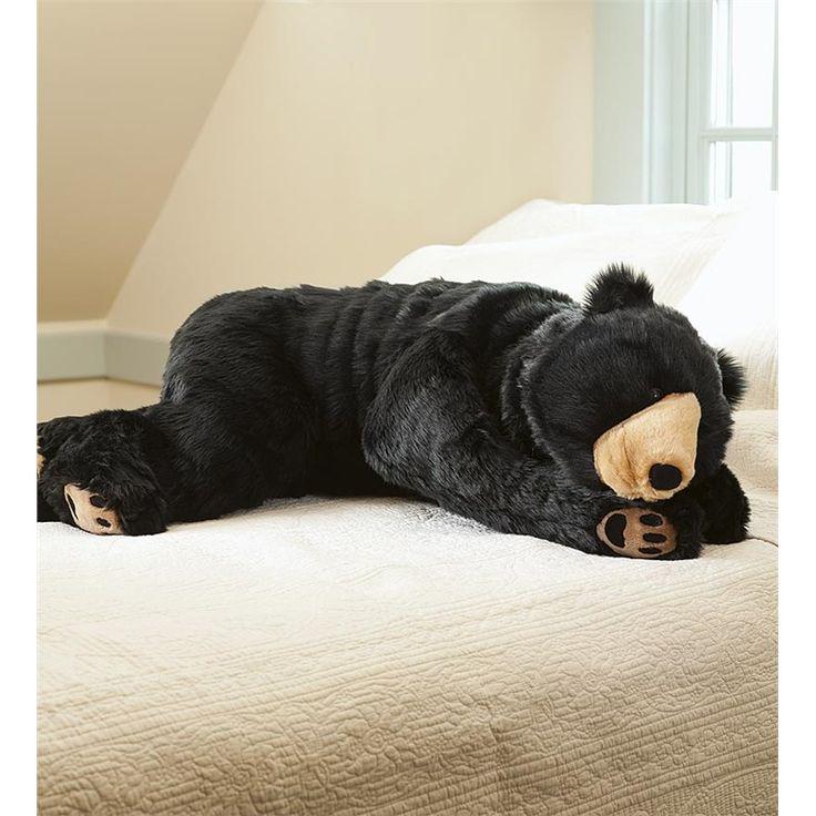 I NEED THIS ASAP!!!!      Bear Hug Body Pillow   Animal Body Pillows   Plow & Hearth