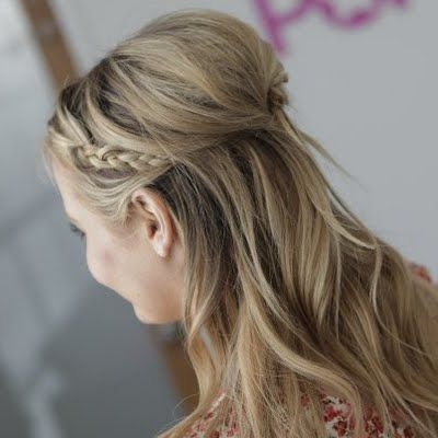 Braided Half-Up Hairstyle by Kirbie J
