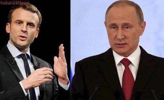 Ukrainians appeal to Emmanuel Macron over Vladimir Putin's 'political' prisoners