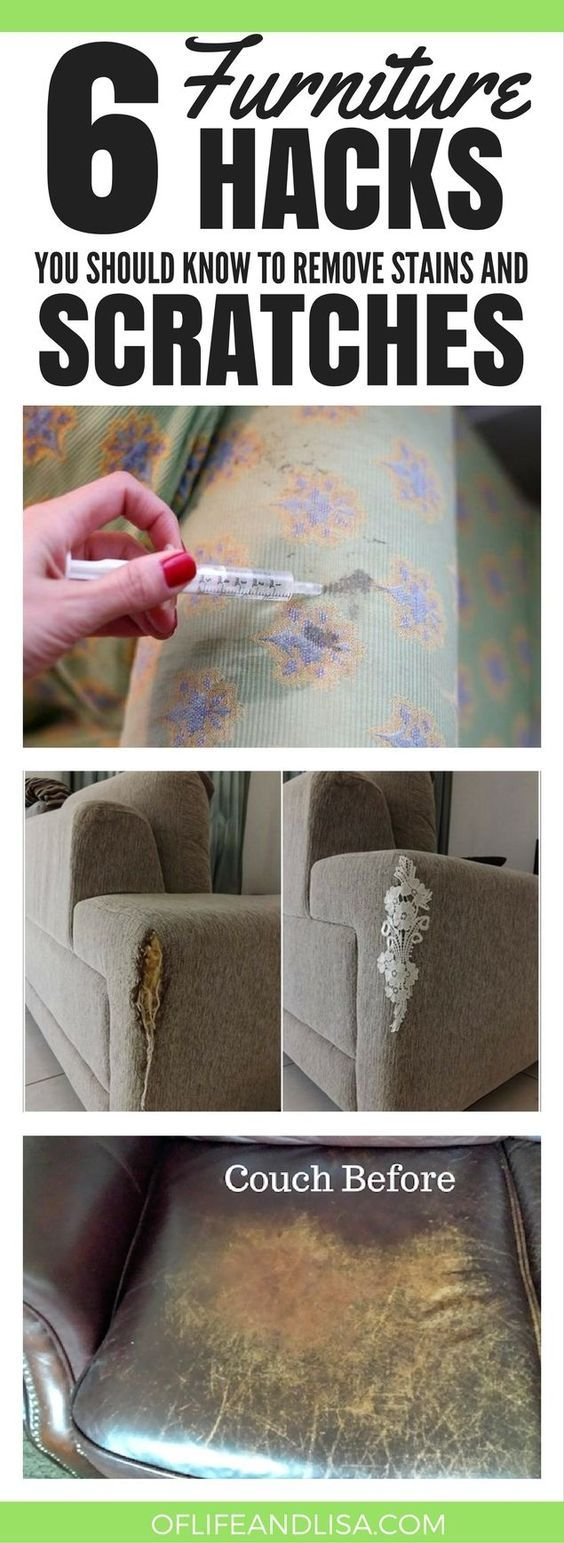 YOU WON'T BELIEVE WHAT SHE DID TO HIDE THE SCRATCHES ON HER COUCH! #cleaning #home #life #mom #homemaking #sofa #furniture #hacks #repin #decor