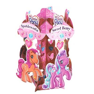 """My Little Pony Centrepiece. Flat Size is 9""""X9"""". Really Spins!"""