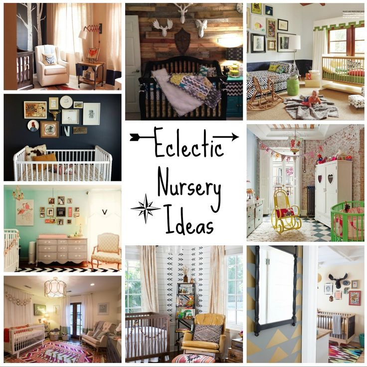 Gorgeous Eclectic Nursery Ideas. Love how the eclectic look captures childhood and is really quite gender neutral.