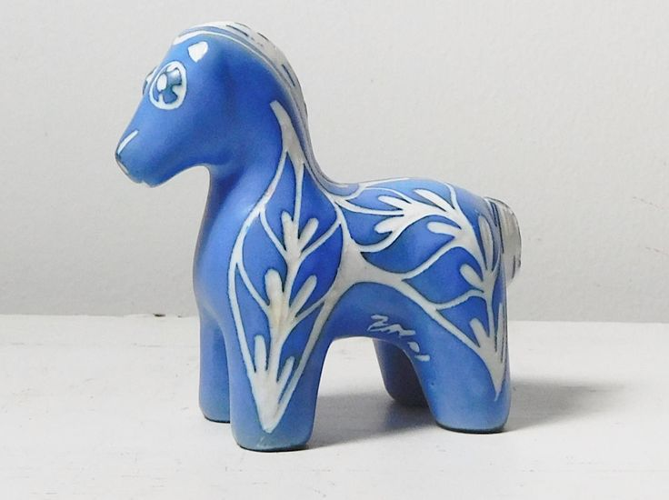 Pablo Zabal Pottery Horse Signed from Chili Sculpture Vintage Small Figurine Sculpture by LandofBridget on Etsy