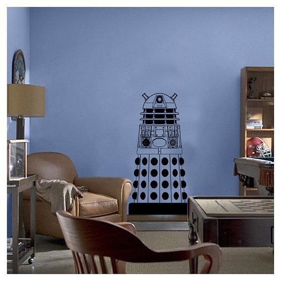 Lifesize doctor who dalek kids vinyl wall sticker decal art transfer graphic