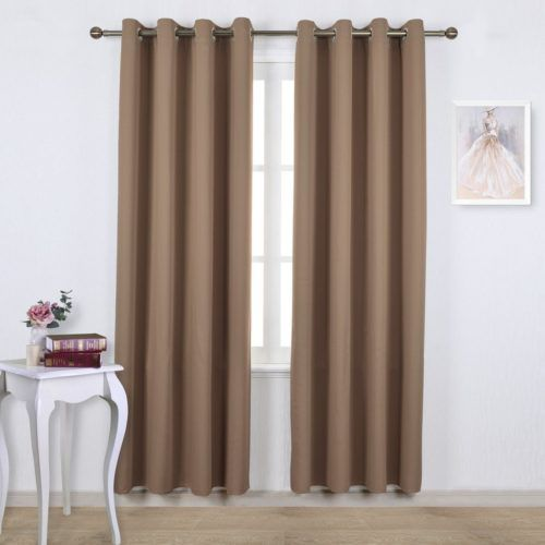 Marvelous Nicetown Three Pass Microfiber Noise Reducing Thermal Insulated Solid Ring  Top Blackout Window Curtains / Drapes (Two X 84 Inch,Gray)