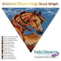 Beading Graph for the Chestnut Mare horse Fringe Necklace